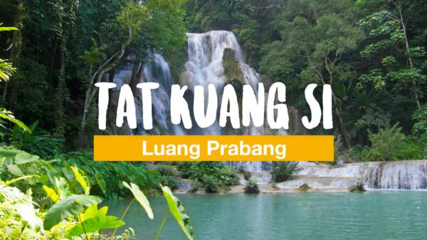 Tat Kuang Si - gorgeous waterfall near Luang Prabang