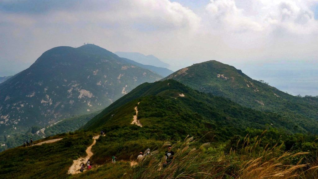 Trail to Dragon's Back near Hong Kong
