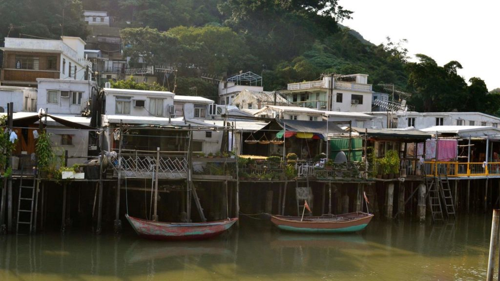 The village Tai O near Hong Kong