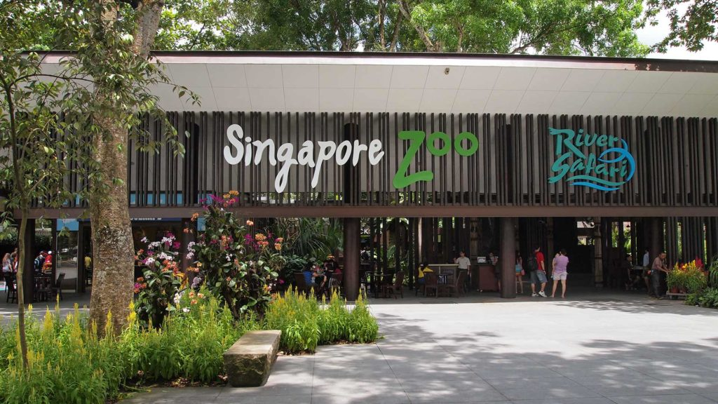 The entrance of the Singapore Zoo