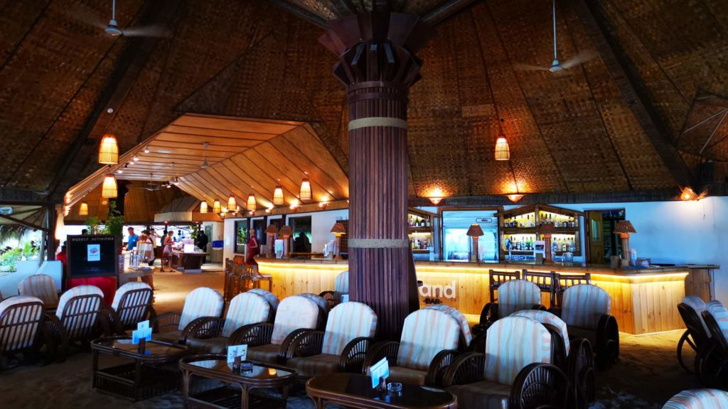 The bar at Thulhagiri Island Resort in the Maldives