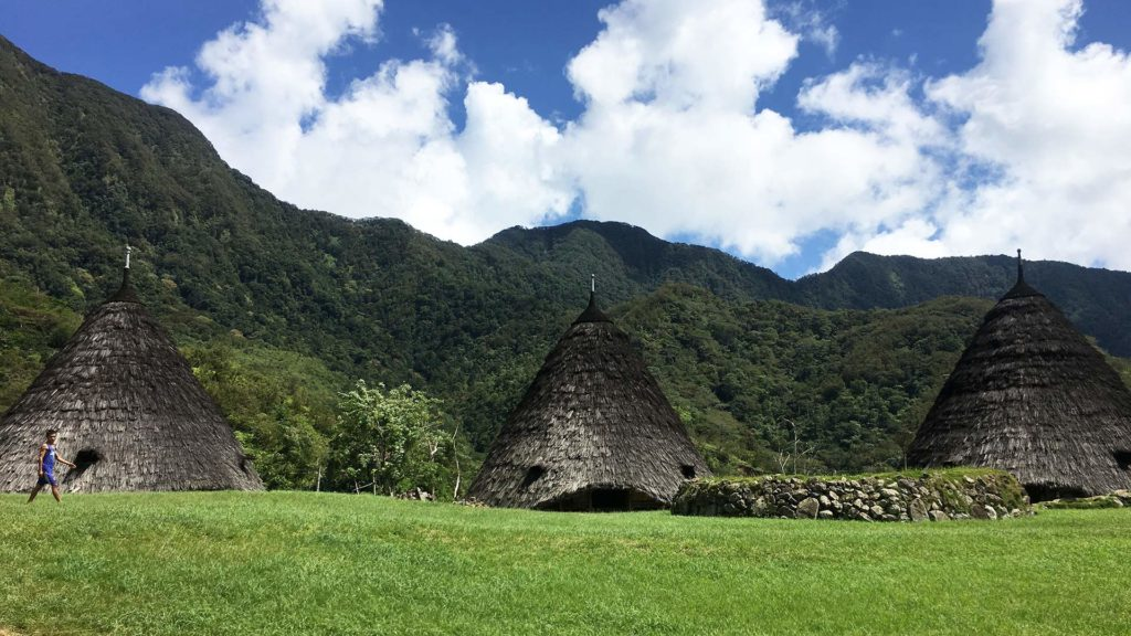 The traditional houses in the village Wae Rebo, Flores (Indonesia)
