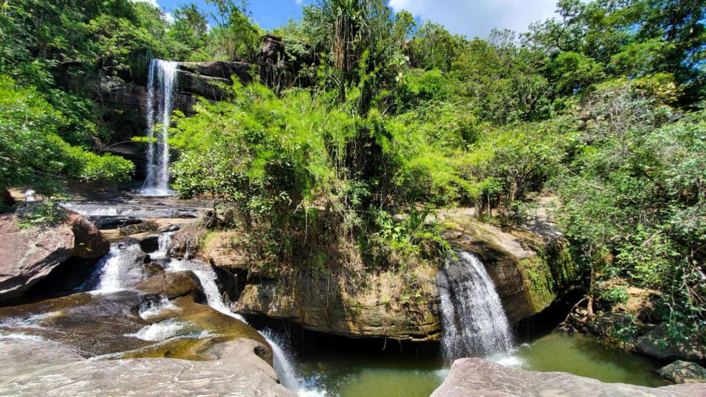 Waterfall in the Pha Taem National Park, Thailand