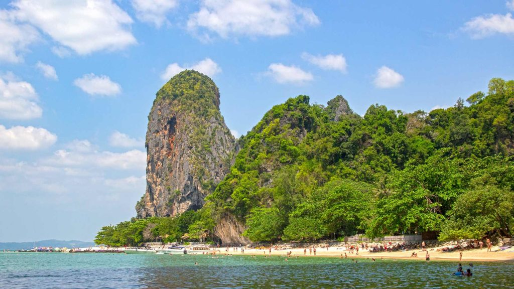View of Phra Nang Cave Beach during a Krabi 4 Island Tour