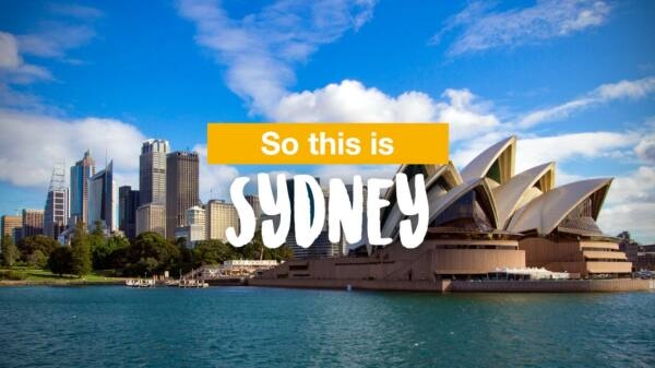 So this is Sydney...