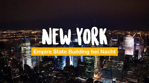 New York: Empire State Building bei Nacht
