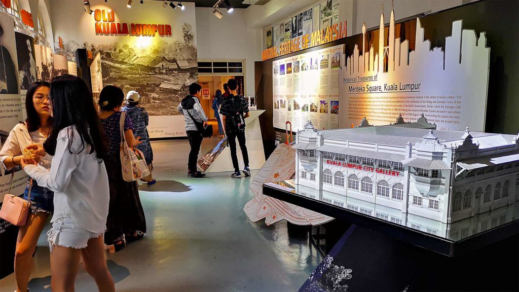 Exhibition on Merdeka Square in the KL City Gallery