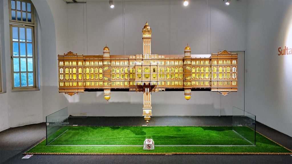 Model of the Sultan Abdul Samad Building in Kuala Lumpur