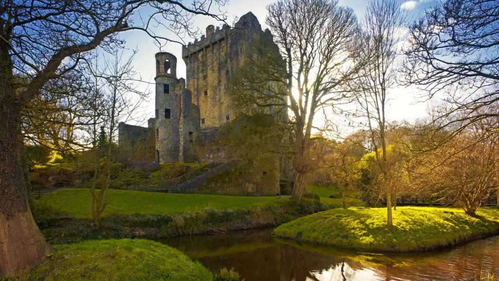 Der Blarney Castle in Cork, Irland