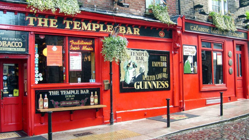 Die berühmte The Temple Bar in Dublin, Irland