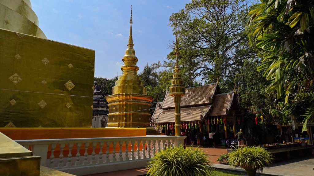 On the temple ground of Wat Phra Singh in Chiang Mai