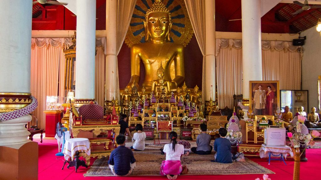 Golden Buddha in the Wihan Luang of Wat Phra Singh, Chiang Mai