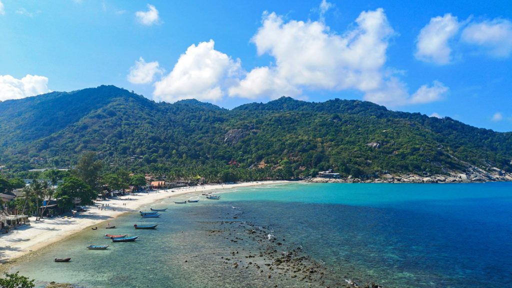 View of Haad Rin Beach from the Skymoon Resort on Koh Phangan