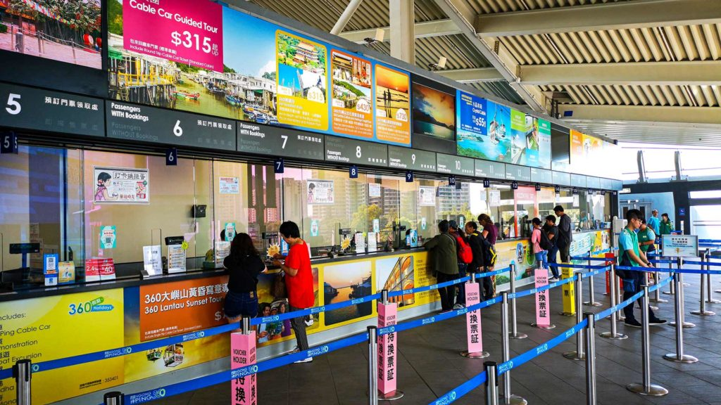 Ticket sales for the Ngong Ping 360 cable car to the Big Buddha from Hong Kong