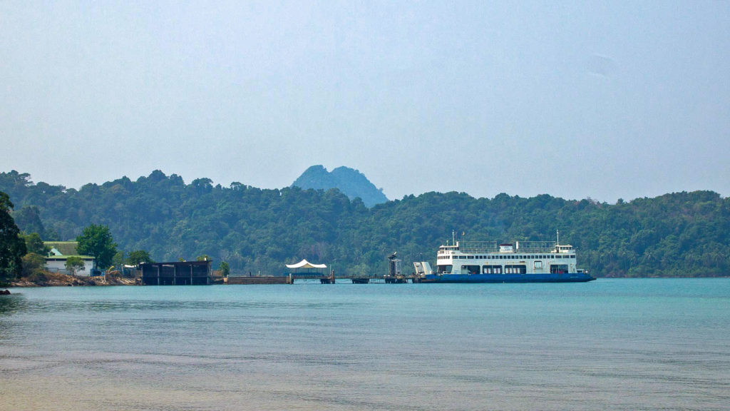 The ferry dock on Koh Chang