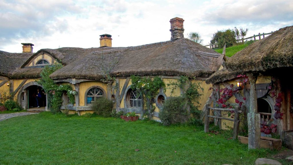 The Green Dragon Pub in Hobbiton, Matamata