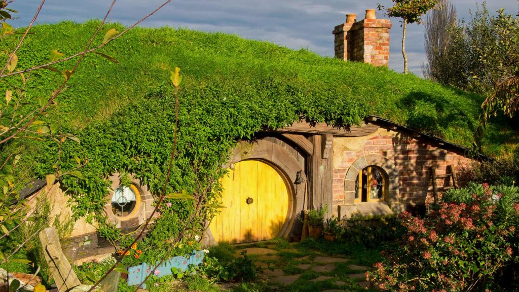 Another Hobbit house at the Hobbiton Movie Set Tours in Matamata