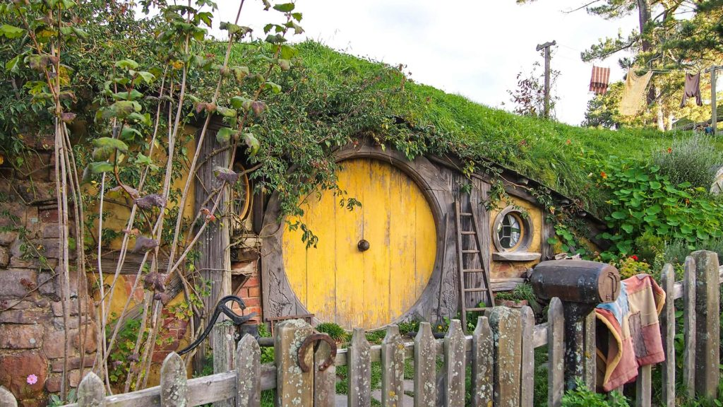 Hobbit house in Hobbiton near Matamata