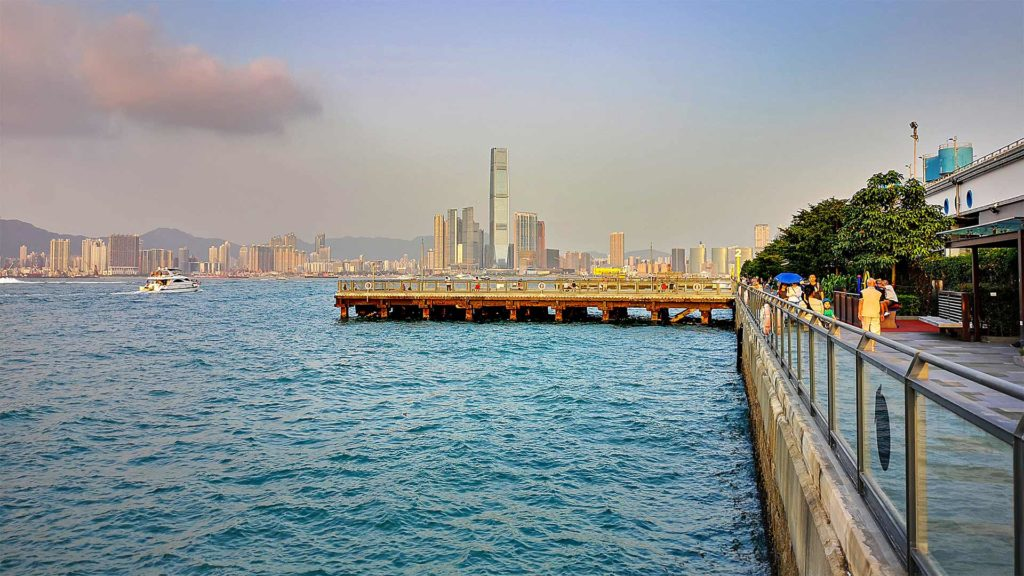 Die Promenade des Central and Western District auf Hong Kong Island