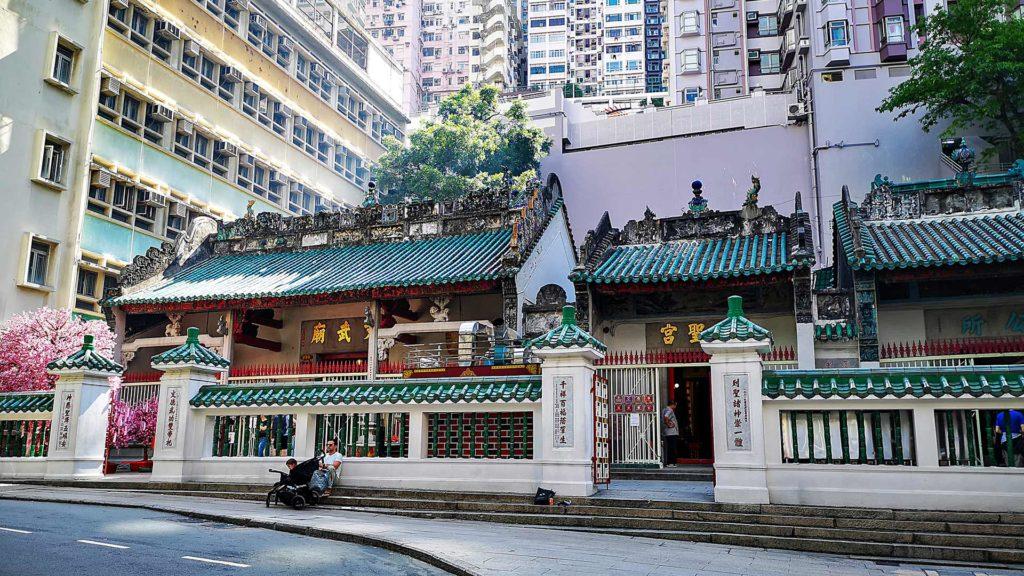 Die Außenansicht des Man Mo Tempels, Hong Kong Island