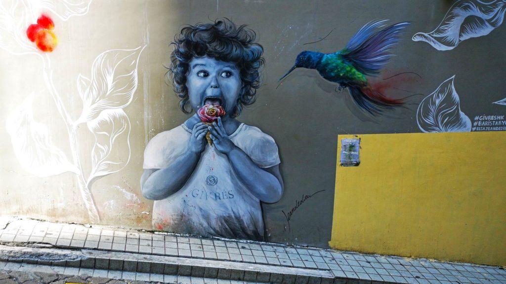 Street Art in Soho auf Hong Kong Island