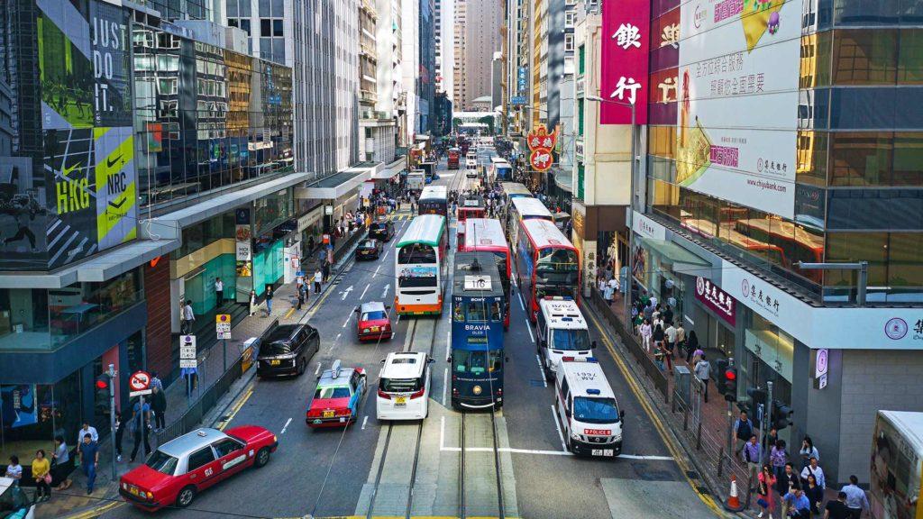 Die Trams von Hong Kong Island