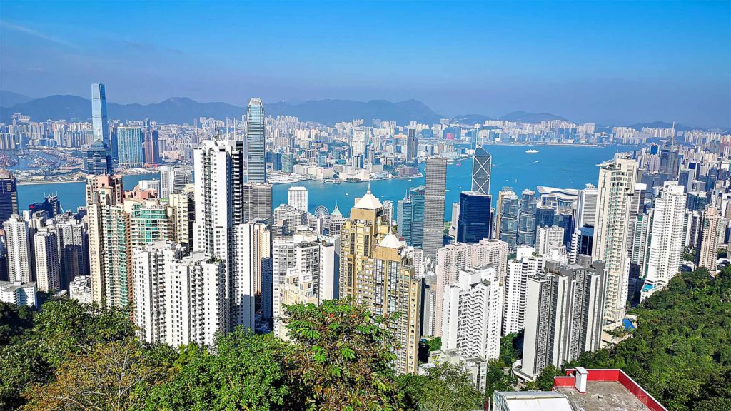 The view from Lion's Pavilion on Hong Kong at Victoria Peak