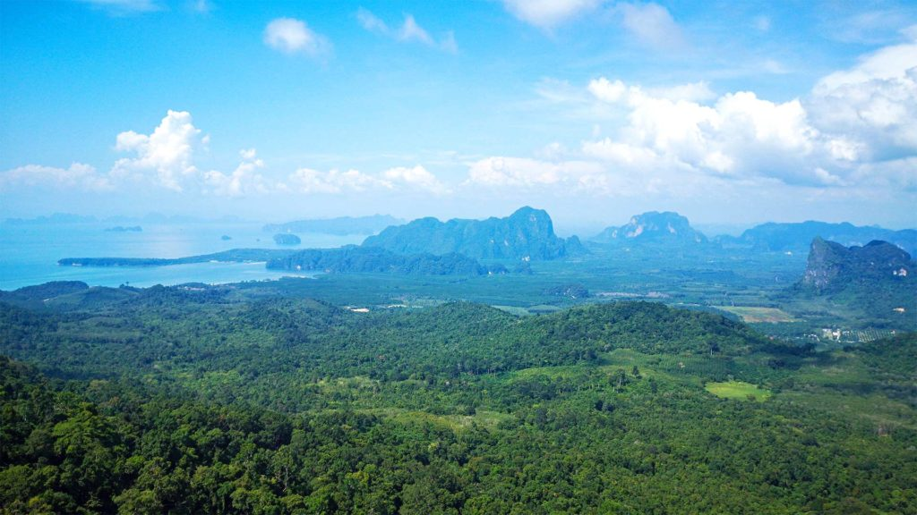 Aussicht vom Dragon Crest Mountain in Krabi
