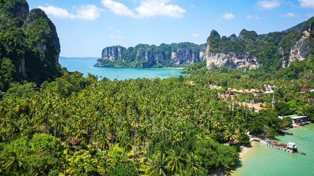 Aussicht vom Railay Viewpoint, Ao Nang in Krabi