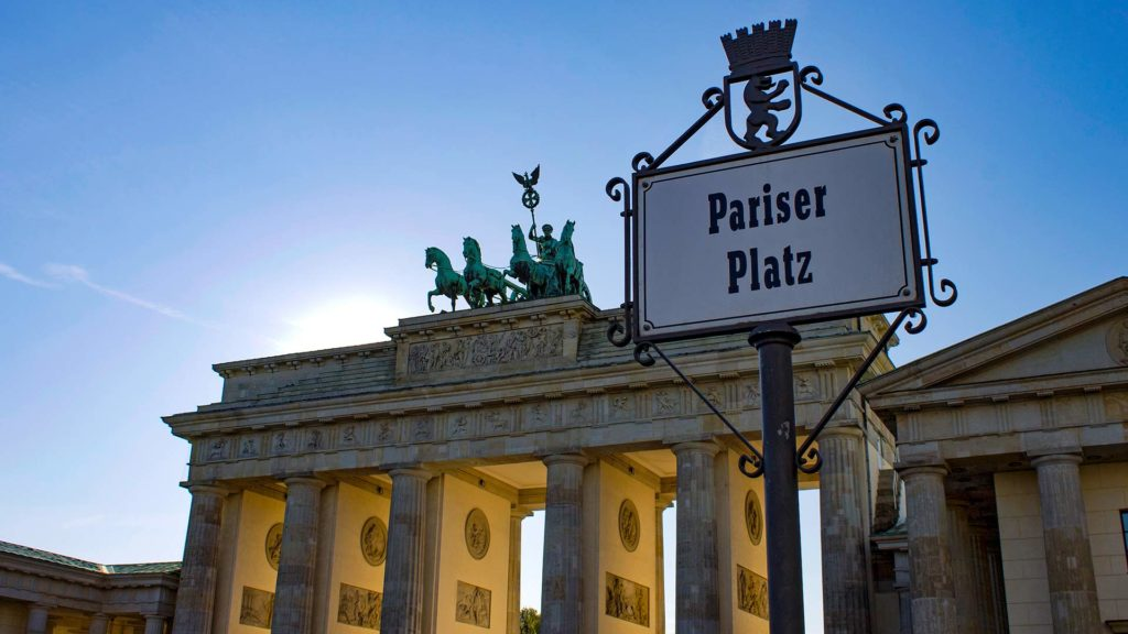 The Brandenburg Gate on Pariser Platz, Berlin