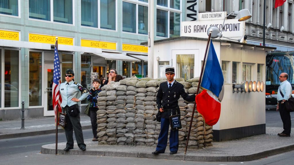 US Army Checkpoint Charlie in Berlin, Germany