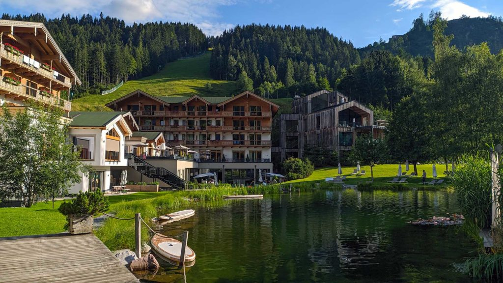 View of the Naturhotel Forsthofgut in Leogang, Austria