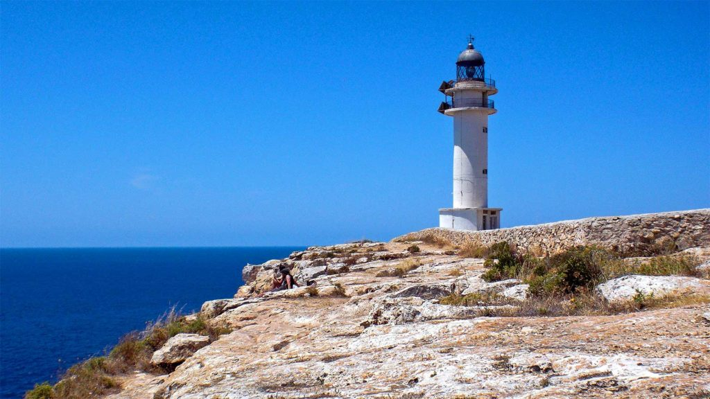 Lighthouse at Cap de Barbaria on Formentera, Balearic Islands, Spain