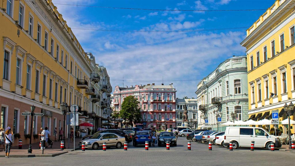 The old town of Odessa in the Ukraine