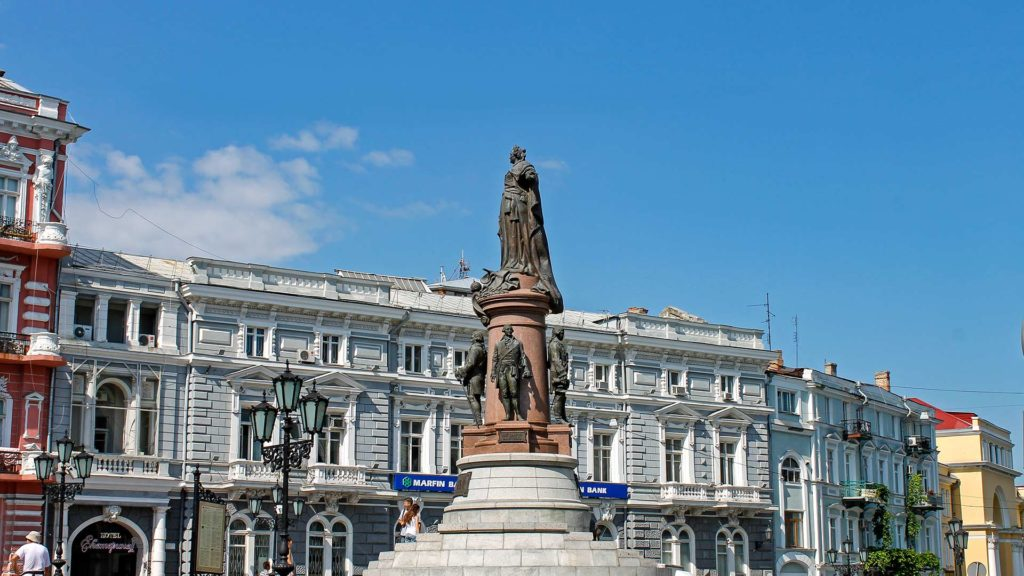 The Catherine II monument in Odessa