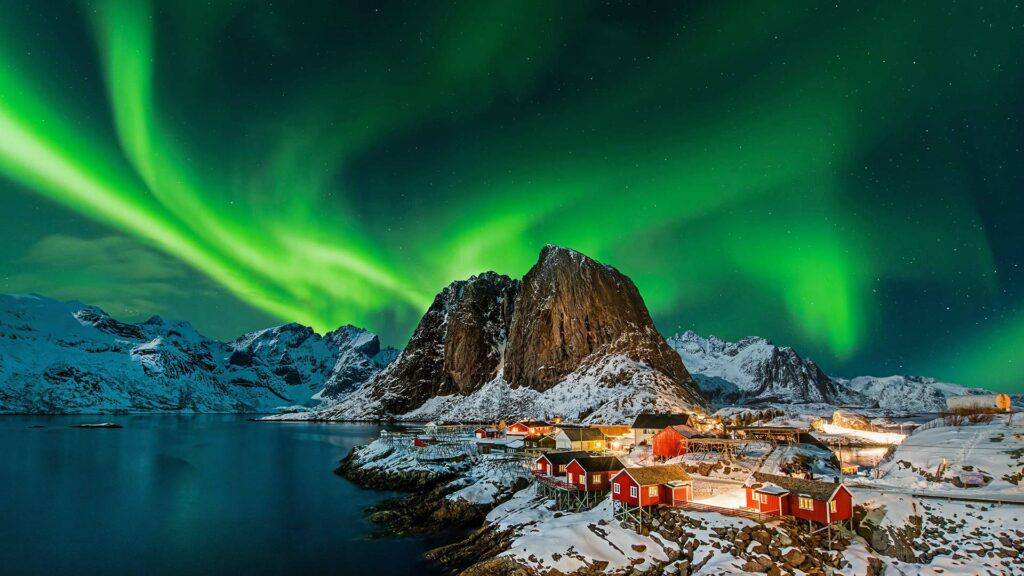 Polarlichter in Norwegen auf einer Nordeuropa Kreuzfahrt